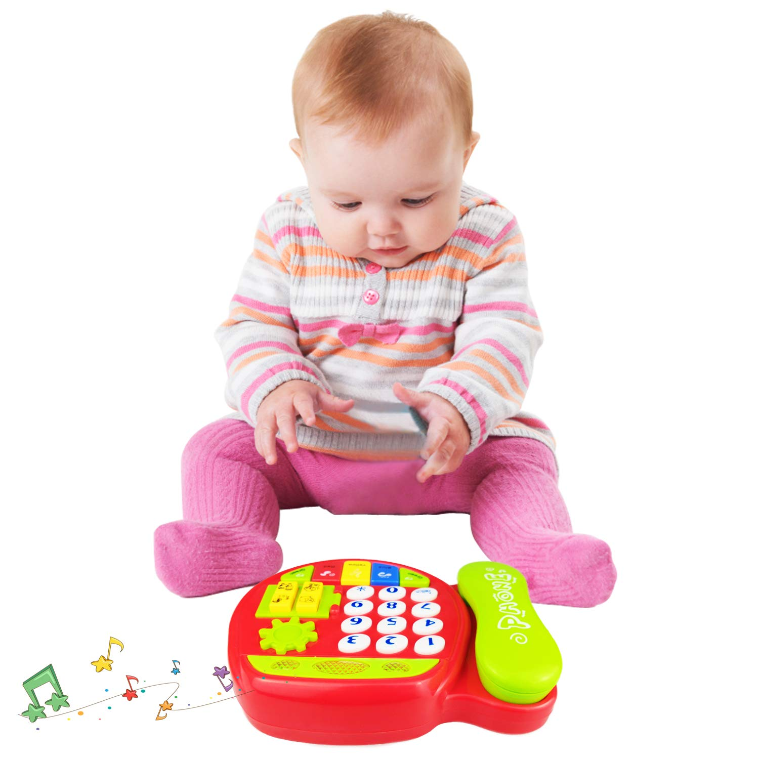Telephone Toy for 3-12 Month Baby Toy Phone Gift 1-3 Year Old Baby Boy Girl Retro Toys for 6-18 Months Girl Kid Children Toy Gift 9-24 Months Toddlers Boy Phone Toy Age 1 2 3 Birthday Gift Babies