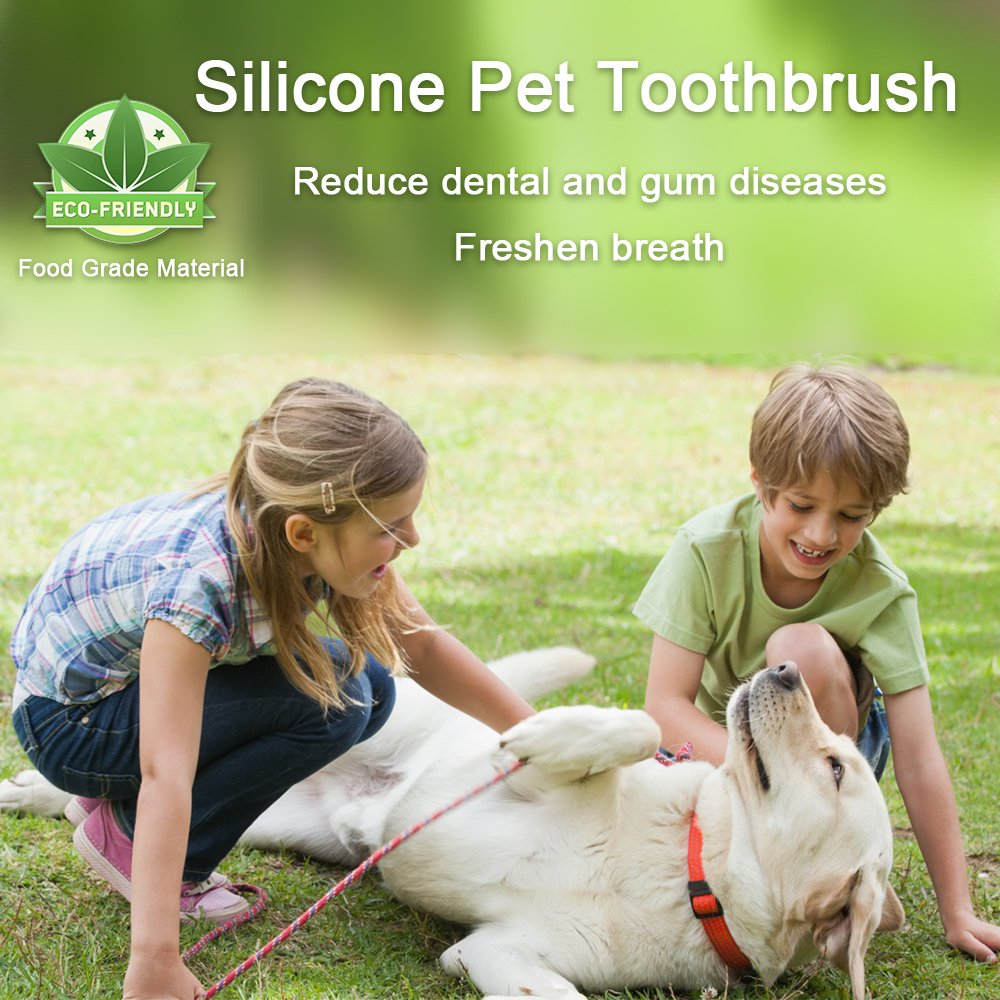 CAM-ULATA Pet Dog Cat Toothbrush Finger 12pcs Set Dental Hygiene Brushes Food Safety Soft Silicone Colorful Pet Finger Toothbrush for Puppy Doggy Small Dog