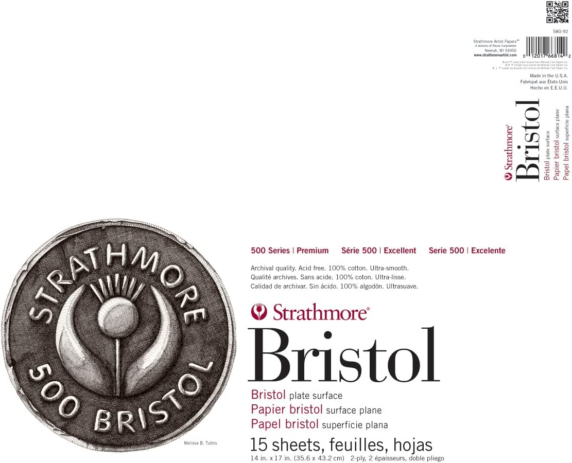 2-Ply Plate Surface 24 Sheets 580-52 Strathmore 500 Series Sequential Art Bristol