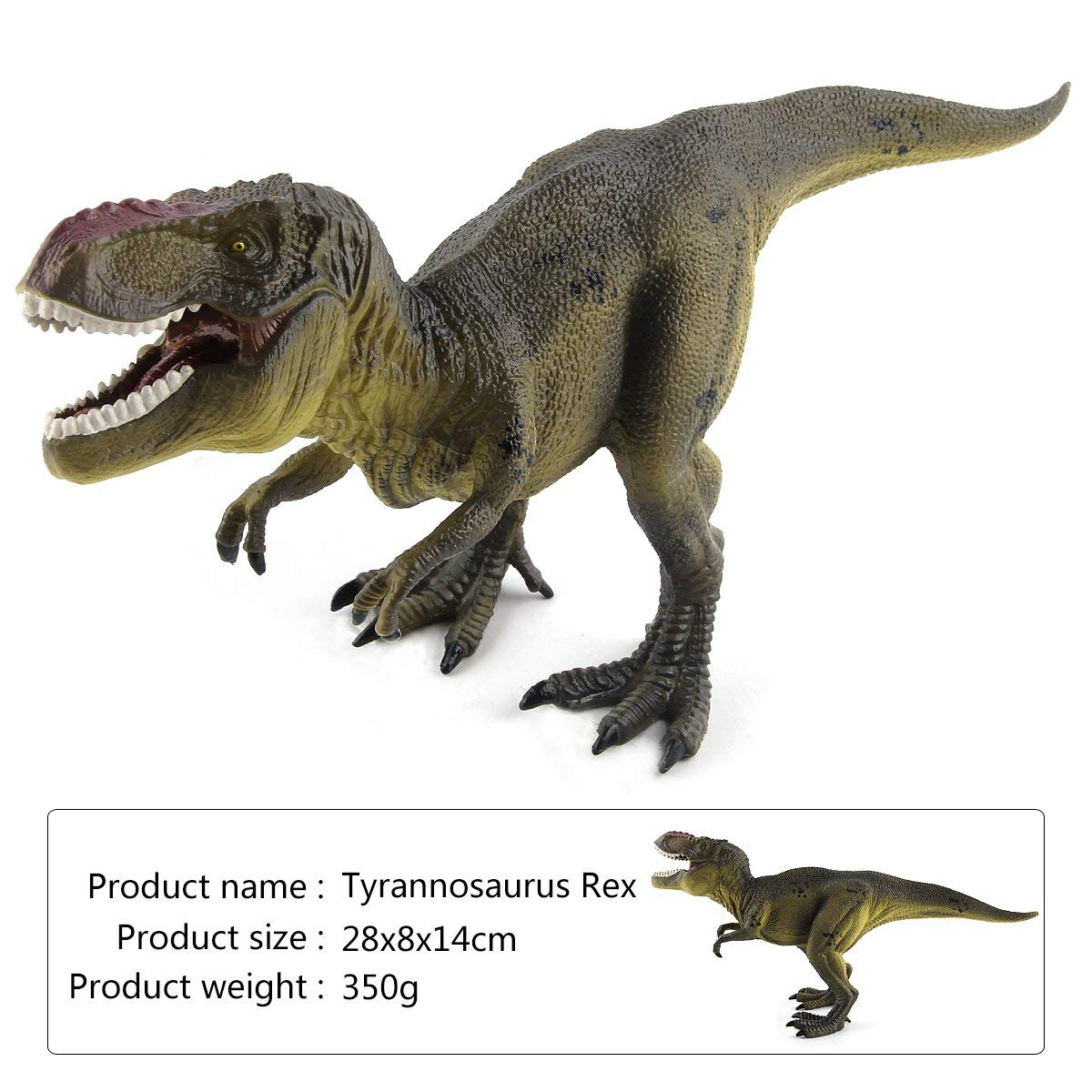 "T-Rex Dinosaur Figures 11"" Large Tyrannosaurus Rex Realistic Plastic Detailed Dinosaur Toys for Kids"