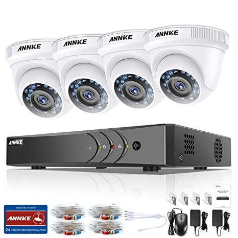 ANNKE Kit Sistema de seguridad 4 Cámaras de vigilancia Luz estelar (Onvif H.265