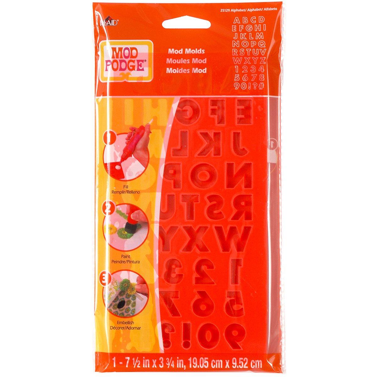 Mod Podge - Stampo con lettere dell'alfabeto, trasparente, misura: L Plaid Enterprises Inc 25129