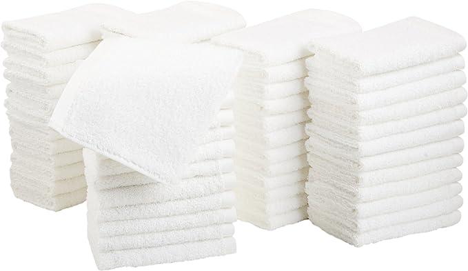 AmazonBasics Toallas pequeñas de algodón 60 unidades