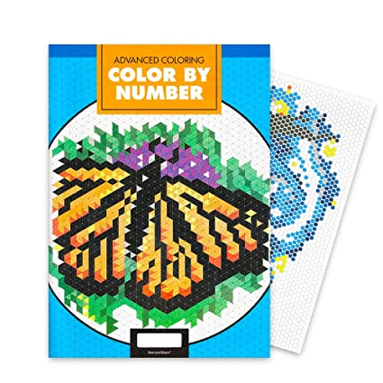 Amazon Com Advanced Adult Color By Number Book Expert Color By