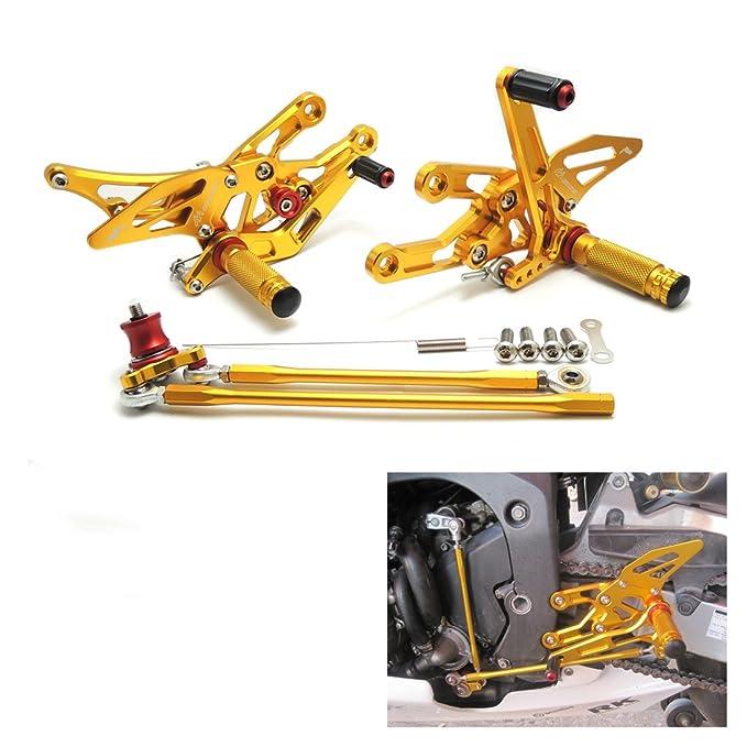 Estriberas Ajustables CNC Reposapiés de Motocicleta para CBR1000RR CBR600RR 2003 2004 2005 2006 2007: Amazon.es: Coche y moto