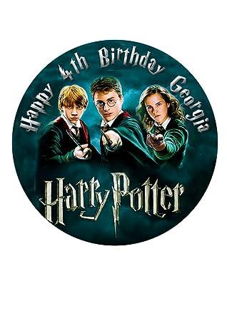 Harry Potter Decoration Pour Gateau Personnalisee Glacage Sucre