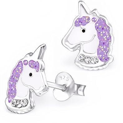 6 Paar Einhorn Ohrstecker Pegasus Pferd Ohrschmuck Tier Mädchen Schmuck Geschenk