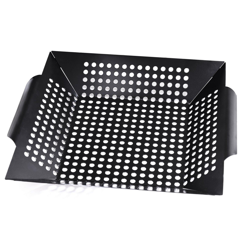 Royal Gourmet Rectangle Non-Stick Rectangle Grill Pan BBQ Basket 12-Inch