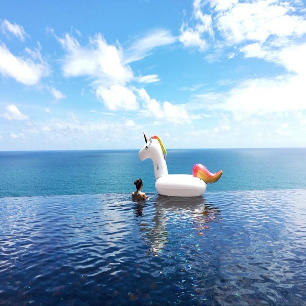 Pool Schwimmen,Aufblasbare Spielzeug Mit Schnellen Ventilen Schweben Ocean star/®Aufblasbare Einhorn