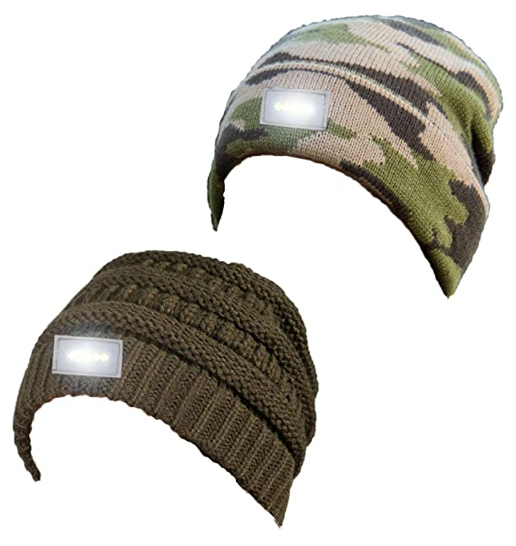 d39e4f3c990 H-6007-2-3384 Day Night Beanie Bundle - 1 Olive