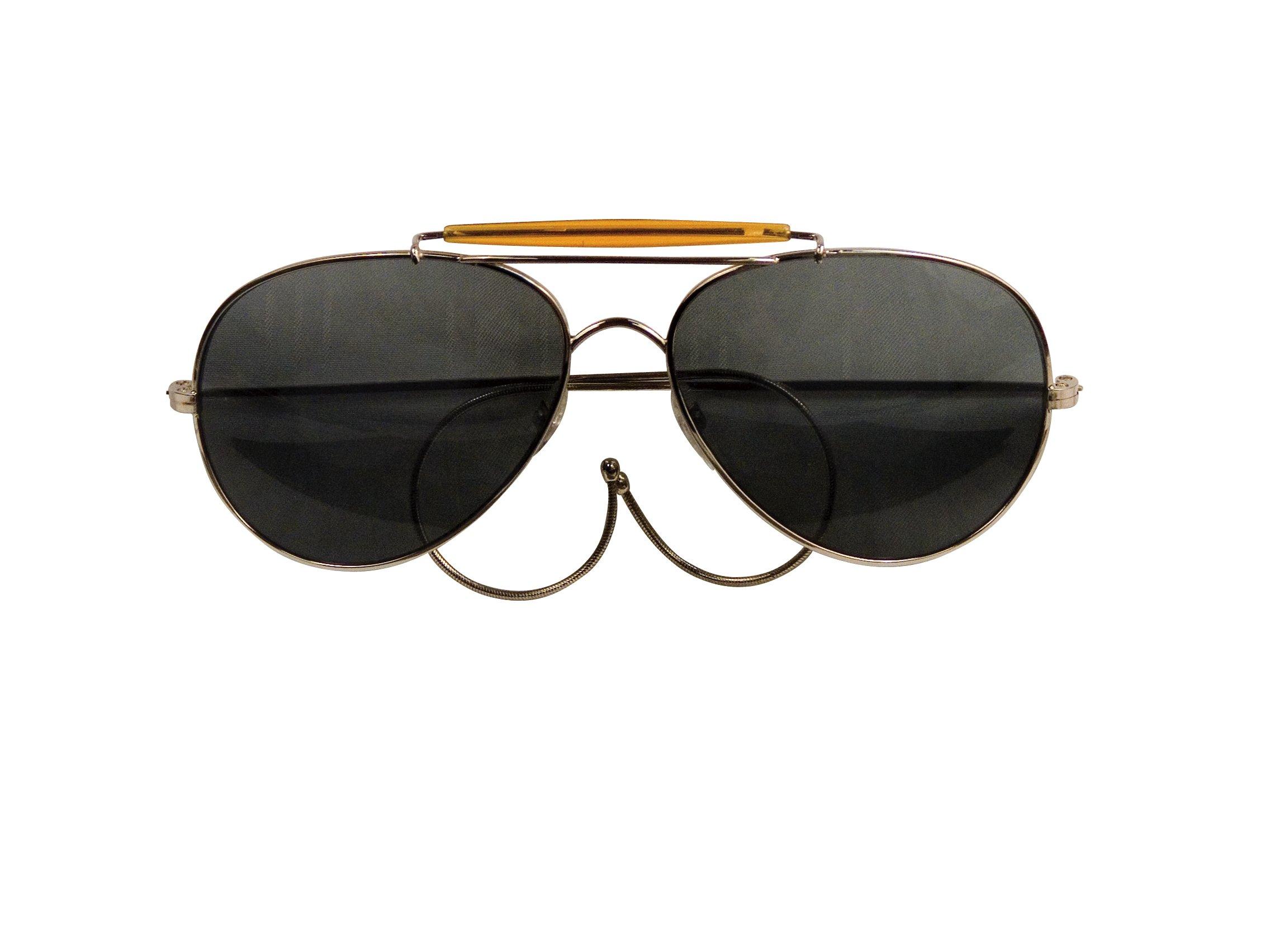 Smoke Lenses US Air Force Style Aviator Sunglasses