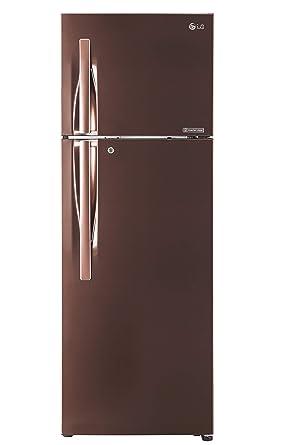 LG 284 L 4 Star Inverter Frost-Free Double-Door Refrigerator (GL-T302RASN, Amber Steel)