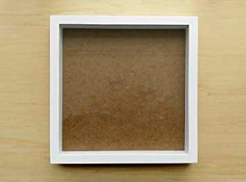 white shadow box frame holds 12x12 scrap book page - White Shadow Box Frame
