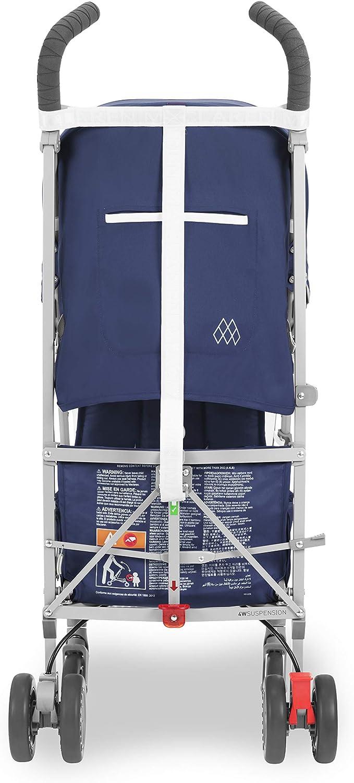 Ultra l/ég/ère compacte si/ège inclinable avec housse de pluie incluse. Capote extensible imperm/éable assurant une protection UV 50 + Maclaren Poussette Globetrotter facile /à man/œuvrer