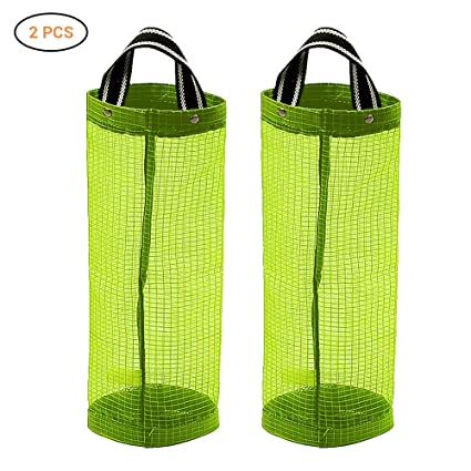Surenhap 2 Pcs Dispensador de Bolsas de plástico Organizador de Bolsas Hanging Mesh Rubbish para el