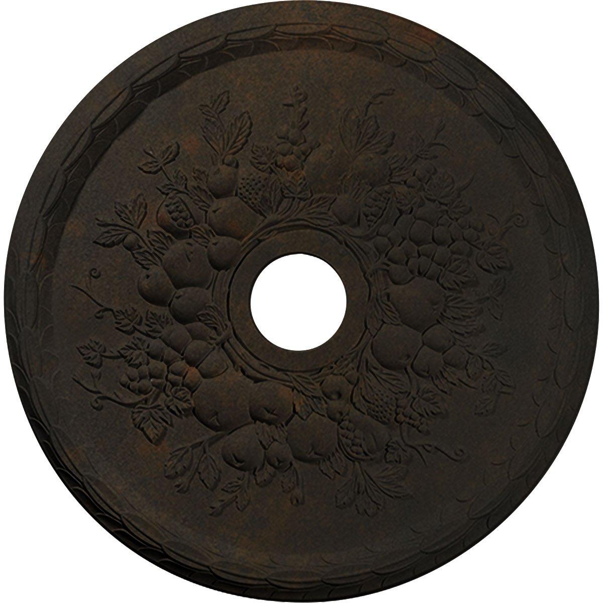 Ekena Millwork CM22GRRUS Ceiling Medallion, 22-5/8'' x 3-5/8'' x 5/8'', Rust