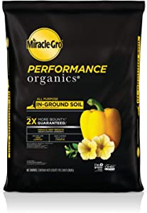 Miracle-Gro Performance Organics All Purpose In-Ground Soil - Organic and Natural Ingredients, Soil for Vegetables, Flowers and Herbs, Feeds for up to 3 Months, 1.3 cu. ft.