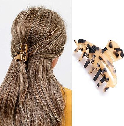 Avicom Hair Claw Banana Clips Celluloid Hair Clips Tortoiseshell Hair Clamps Hair Barrettes Hair Accessories For Women And Girls Amazon Co Uk Beauty
