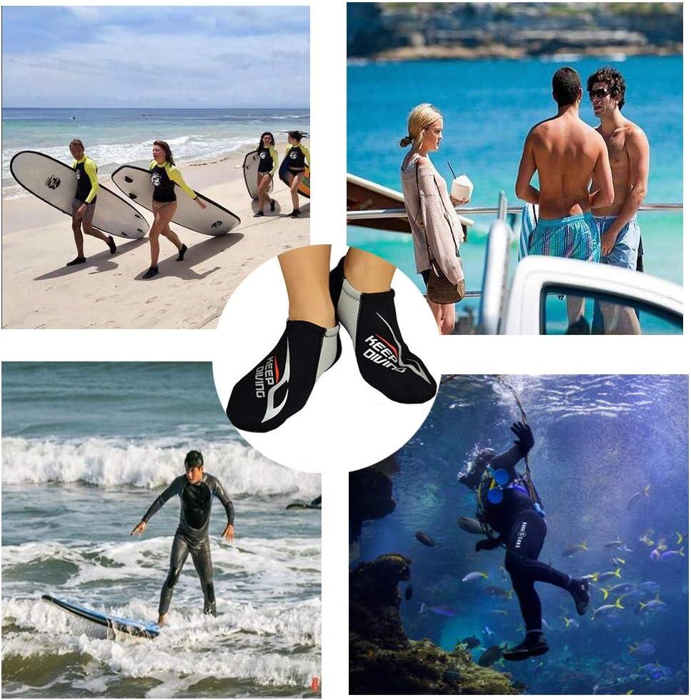 Snorkeling Fishing Wading Kayaking Hiking Rafting Water Socks for Youth Men Women Farway Neoprene Diving Socks 3mm,Surfing Beach Socks Anti-Slip Swim Socks Shoes