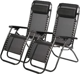 Amazon.com: Zero Gravity Chair 2 Pack Patio Recliner ...