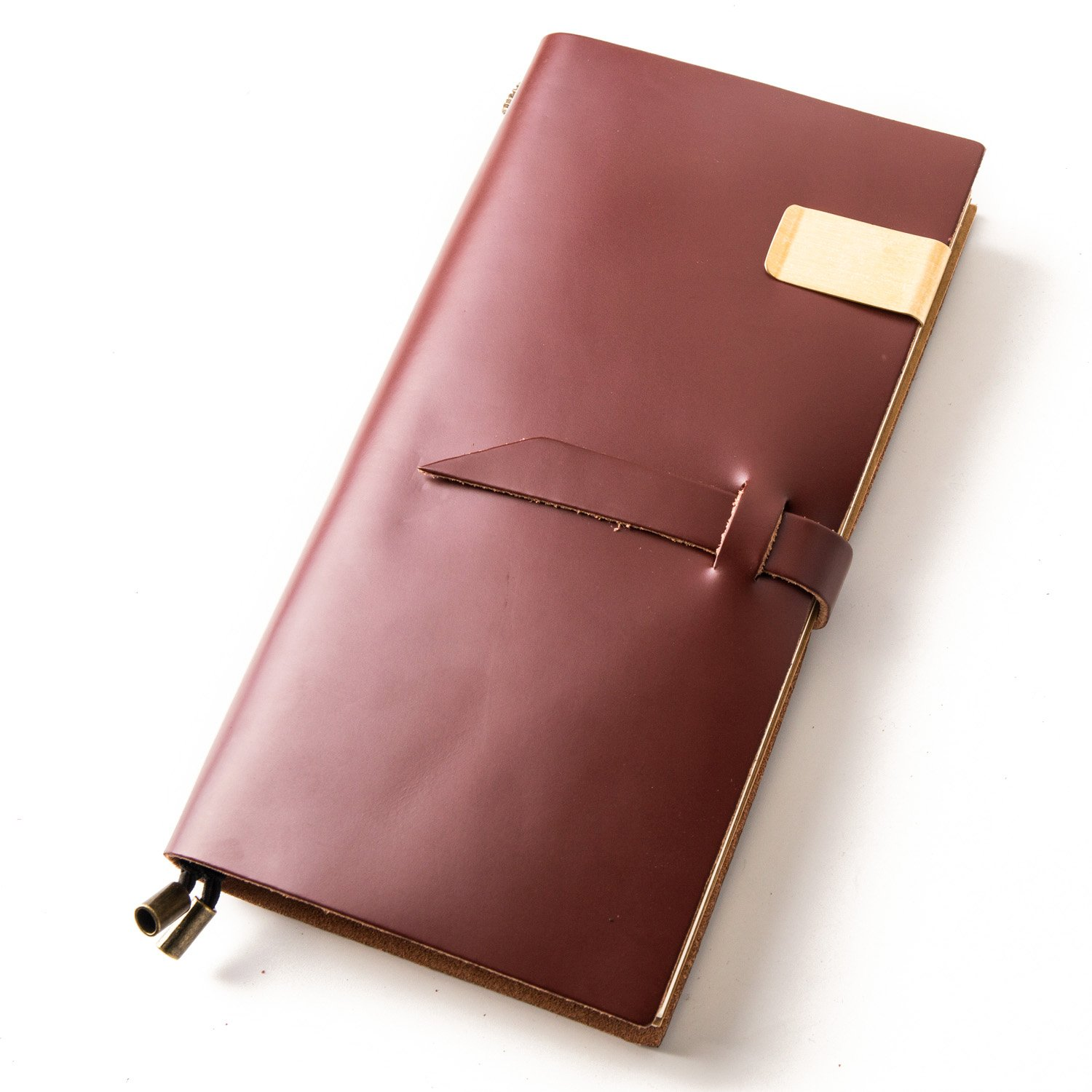 Notebooks and Journals,Leather Travel Diary,Bullet Journals,Refillable Notepad for Men & Women to Write In,Holder Clip Zipper Card Sketching Drawing (Coffee, Standard size)