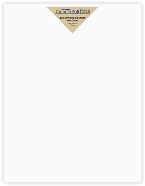 amazon com 50 bright white smooth 80 card paper sheets 9 x 12