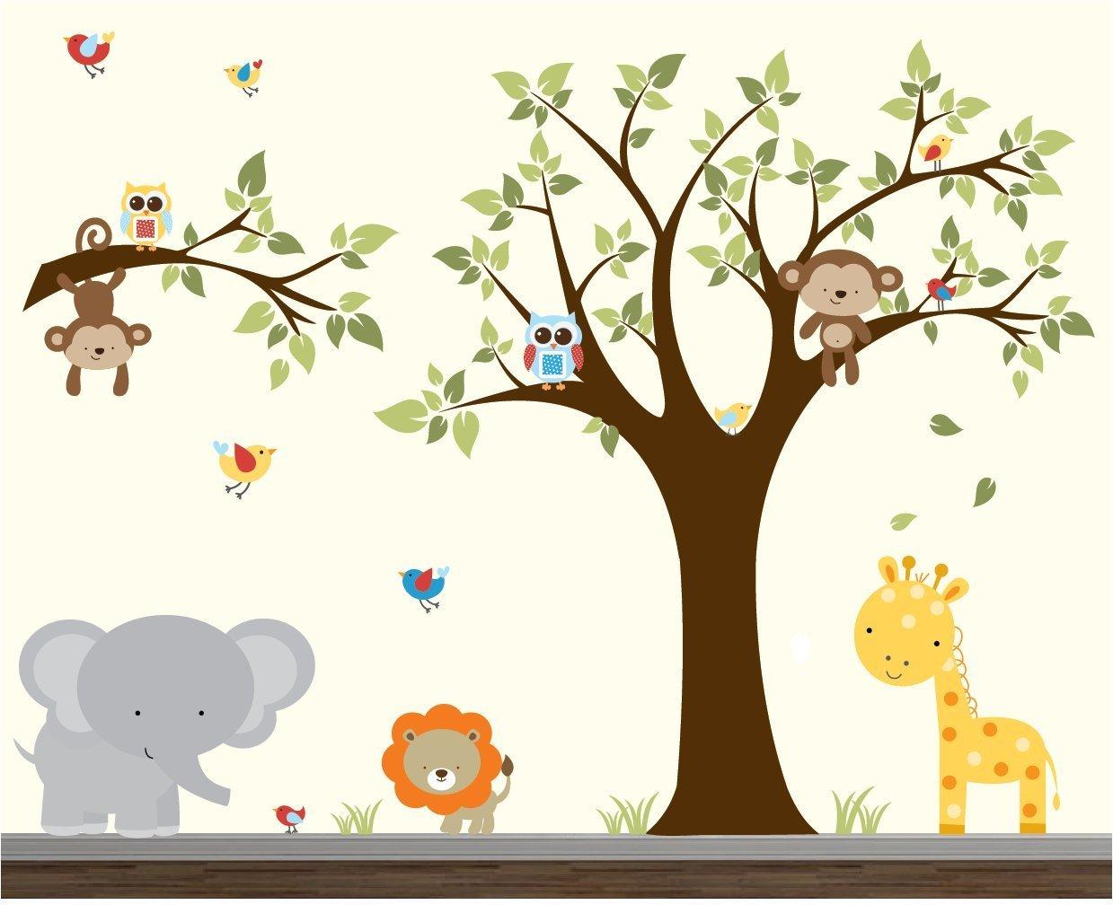 Nursery Wall Sticker-Wall Decals-Jungle Wall Decal-Wall Stickers-Animal Wall Decals-Vinyl Wall Decal