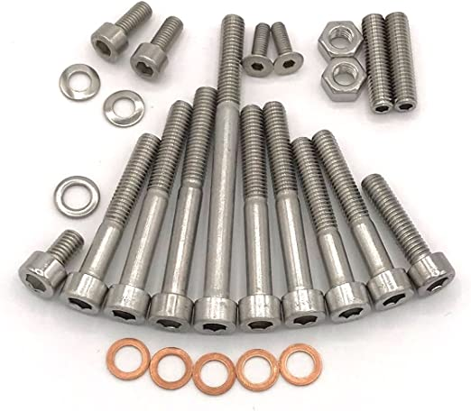 M53 Simson Schwalbe Engine Screw Set For Kr51 1 With Foot Switch Motor Kf Cylindrical Hex Screws Stainless Steel V2 A 1 26 Piece Auto