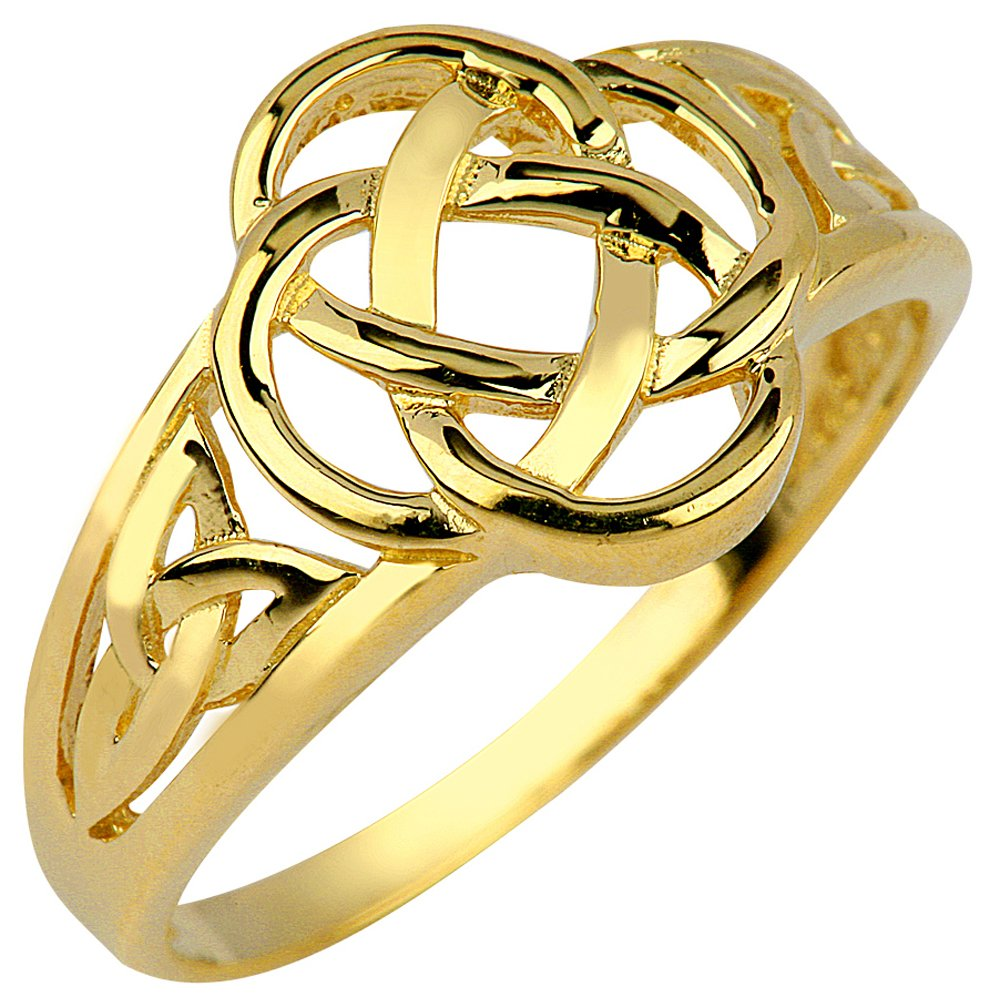 14k Yellow Gold Ladies Trinity Triquetra Ring (6.5)