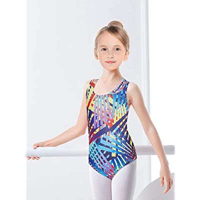 Girls Boys Gymnastics Leotard Stretchy Sleeveless Ballet Dance Bodysuit Coloful