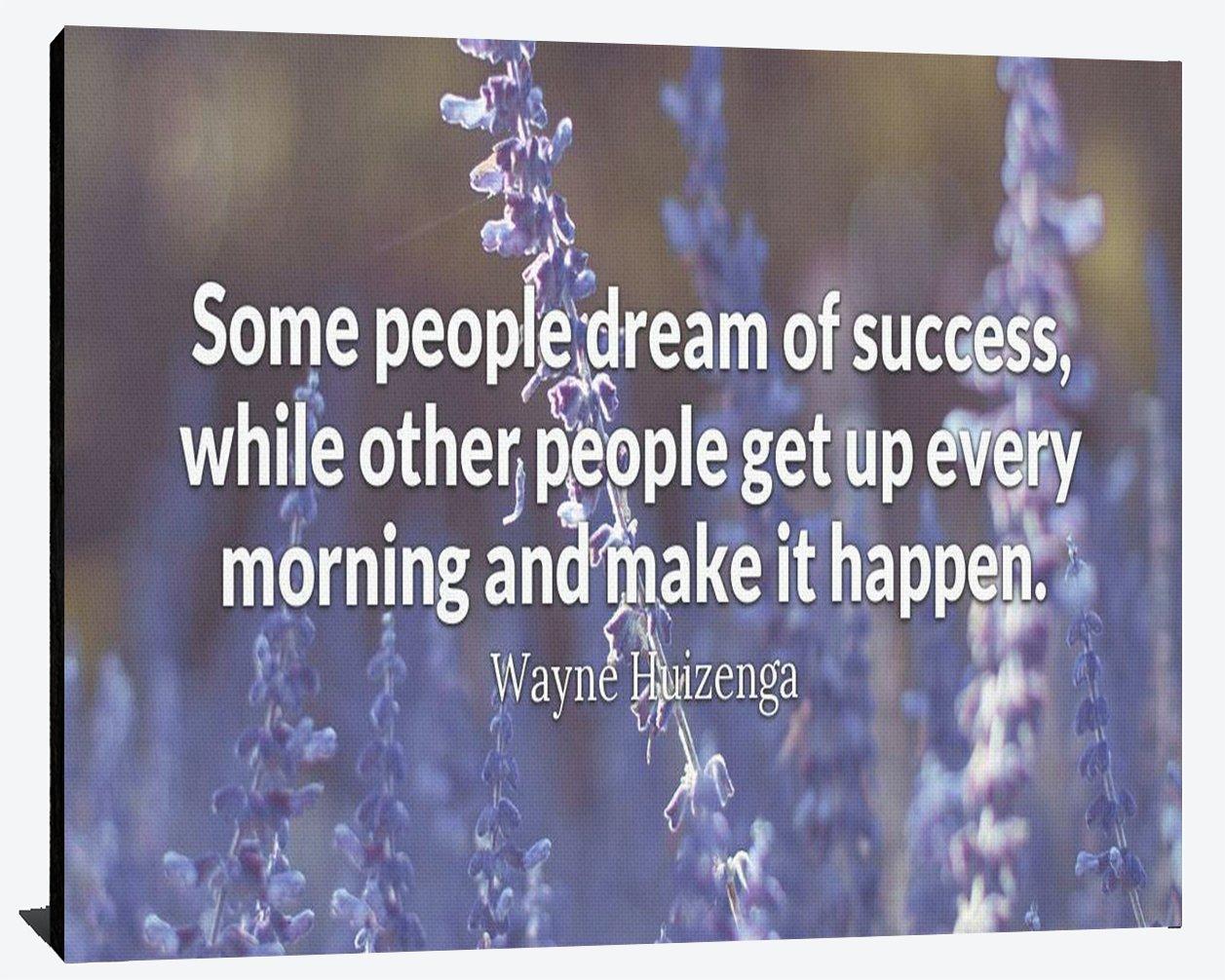 Some People Dream Of Success Others Make It Happen Wayne Huizenga Relentless Fearless Perseverance ProsperityリーダーシップHumble木製壁アート印刷写真イメージDecor 11.75 X 9.375 Inches WOOD2748-size9.375 B079T7CXWV  11.75 X 9.375 Inches
