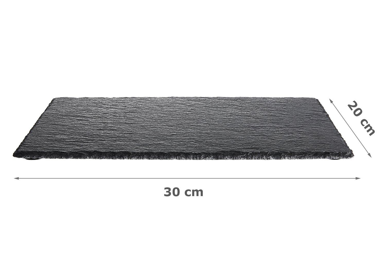 Chefarone Plato de Pizarra (30 x 20 cm - 6 Piezas Pizarra ...