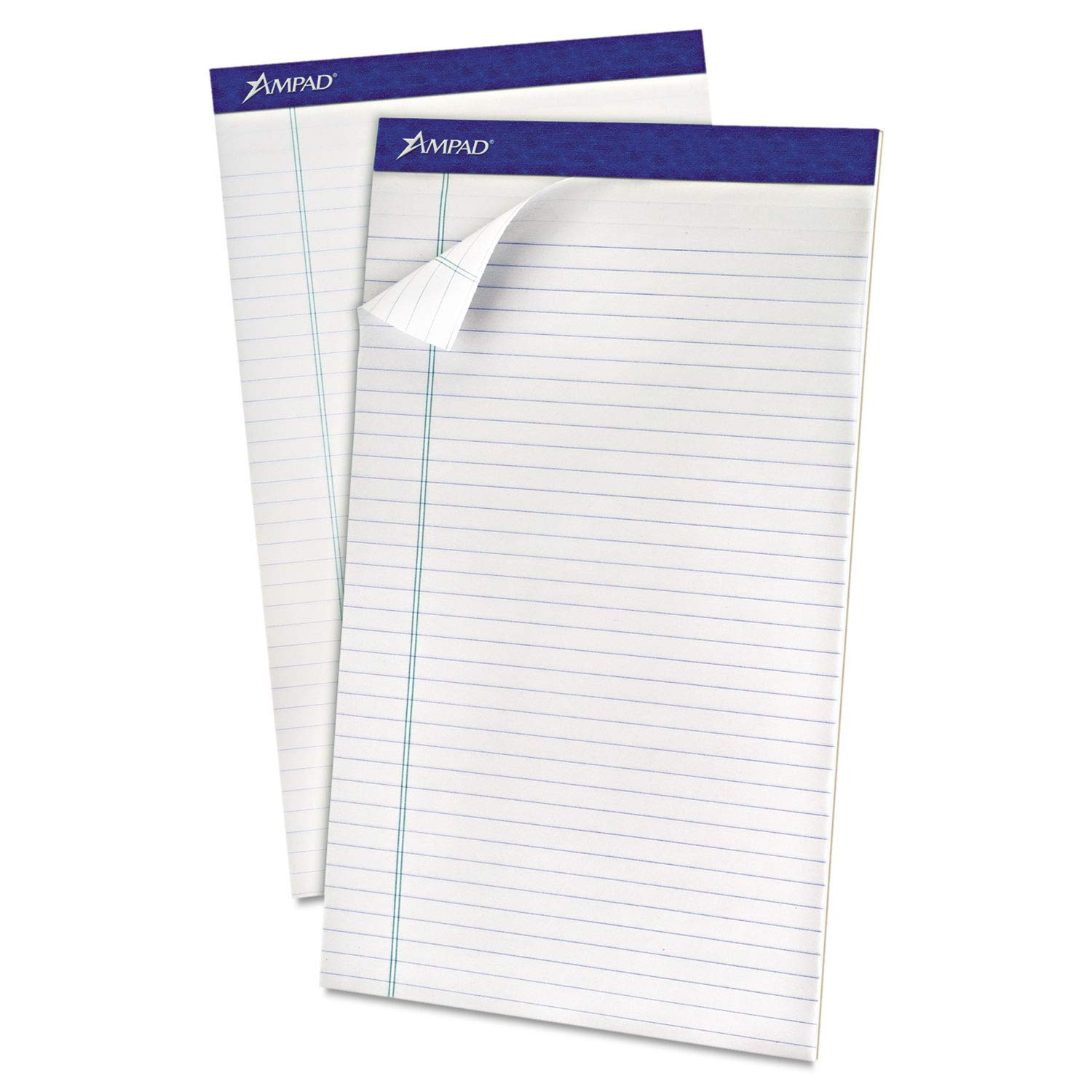 Ampad Recycled Writing Pads, Legal, White, 50 Sheets, Dozen - 20-180