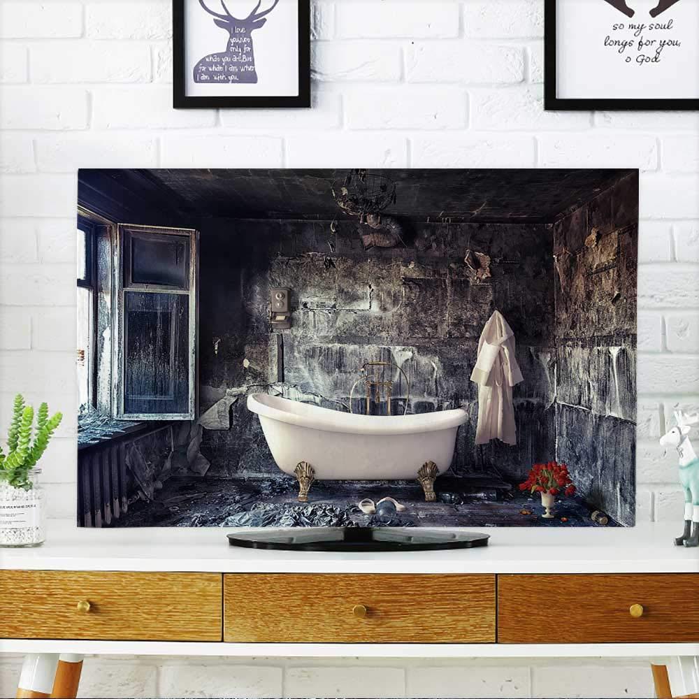 PRUNUS テレビのクジャクの羽を白い背景に保護 テレビを保護 幅19 x 高さ30インチ / TV 32インチ W35 x H55 INCH/TV 60