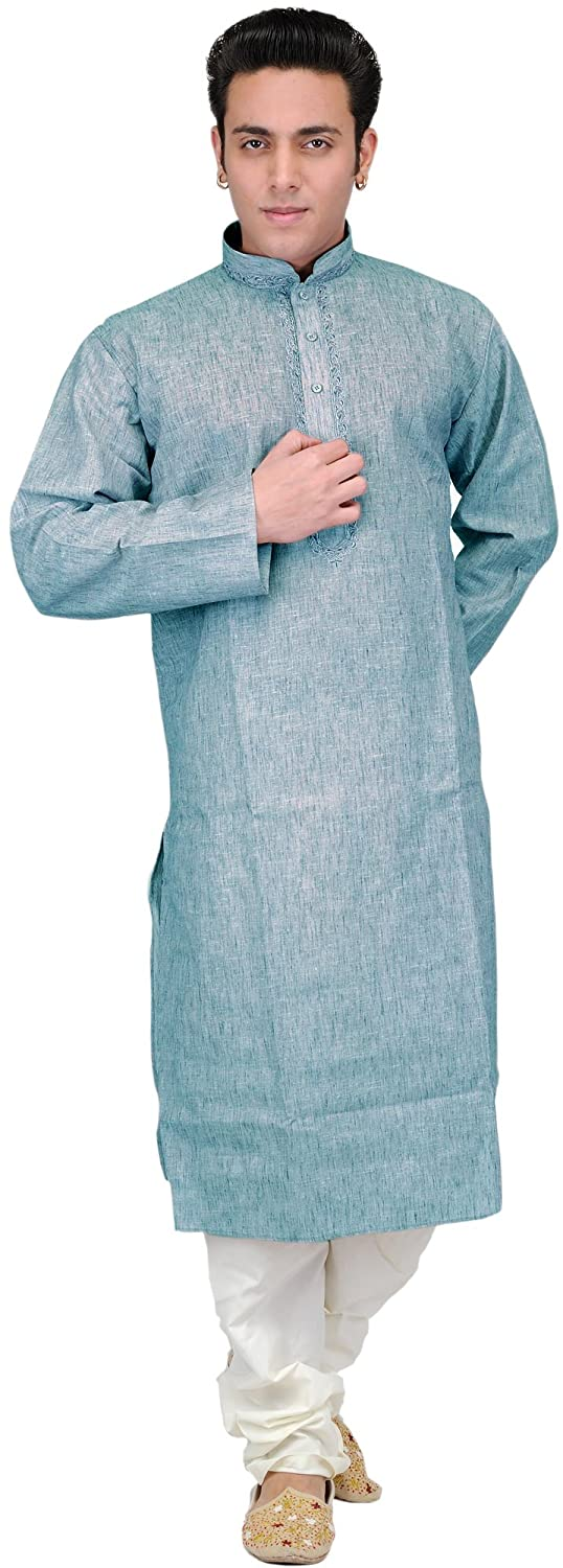 Exotic India Plain Khadi Kurta