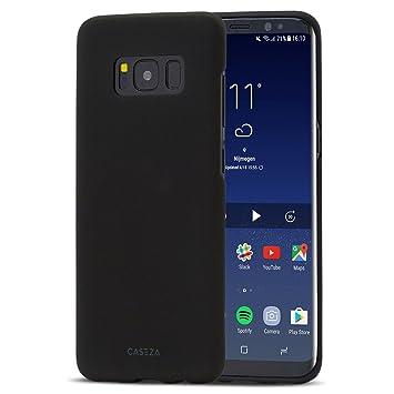 CASEZA Funda Galaxy S9 en Negro Rio Carcasa Trasera Ultrafina con Acabado Goma Mate - Excelente Funda Rígida Protectora - Aspecto y Tacto de Calidad ...