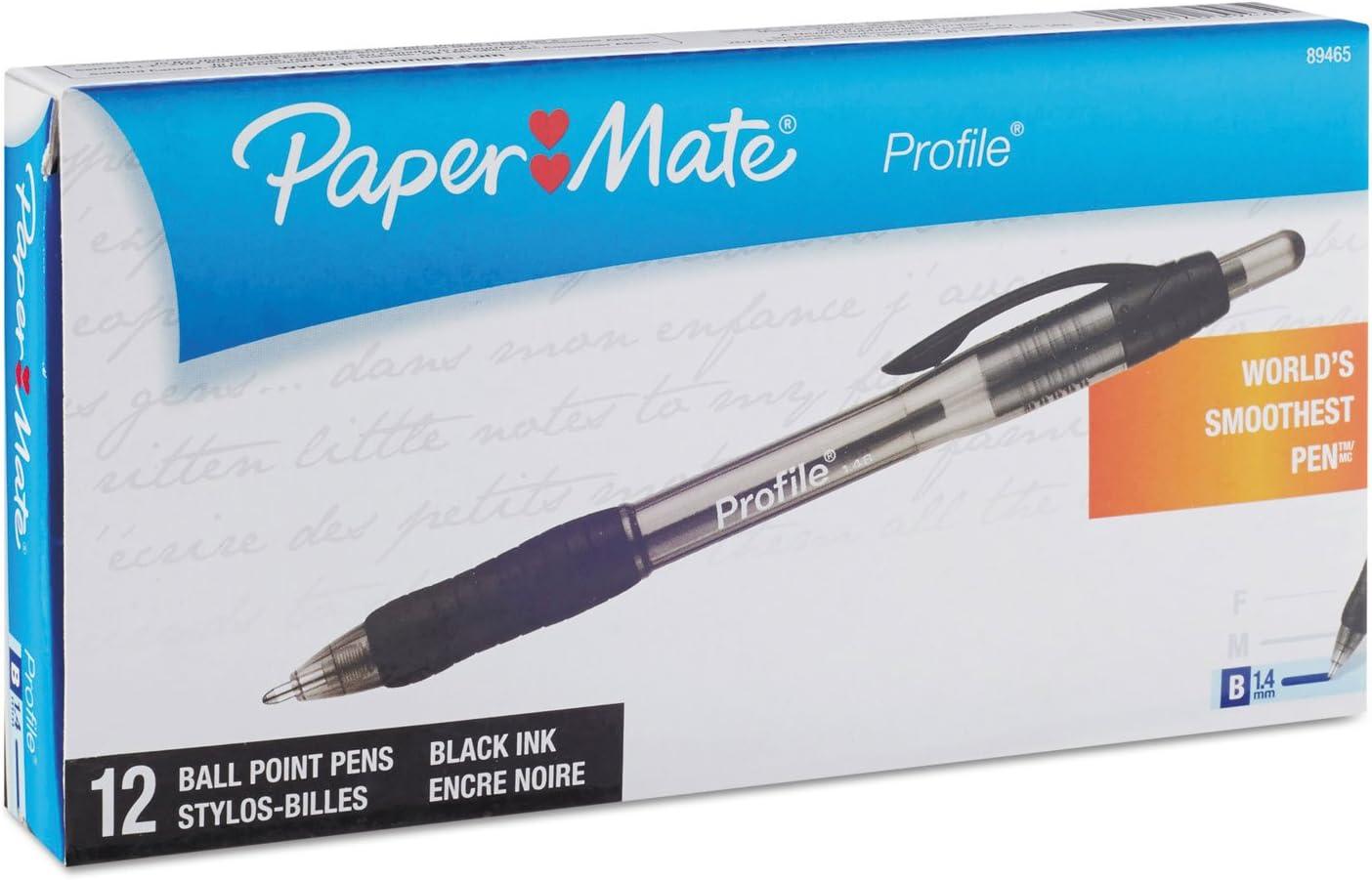 Paper Mate Retractable Profile Ballpoint Pens