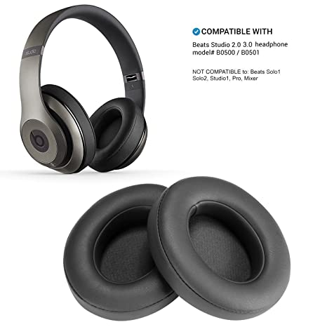Almohadillas de Repuesto de Titanio para Auriculares Beats Studio 2.0 Wired/Wireless B0500 B0501 y