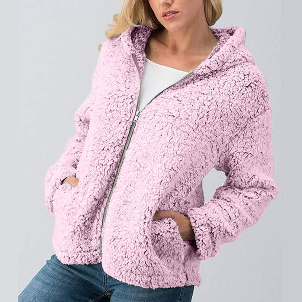 Coat, HighlifeS Women Winter Casual Warm Zipper Jacket Solid Outwear Coat Overcoat Outercoat (Gray, XL): Amazon.com: Grocery & Gourmet Food