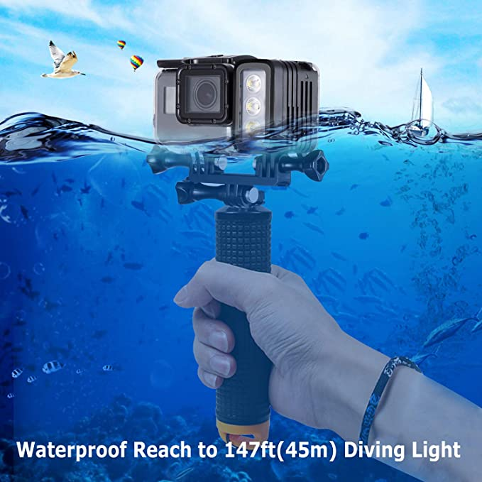 V BESTLIFE Portable Diving Video Light,40M Waterproof 50000H Diving LED Video Light for Sports Camera Waterproof Case,etc