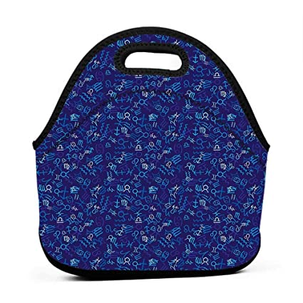 Amazon com: Rugged Lunchbox Astrology, Blue Pattern with