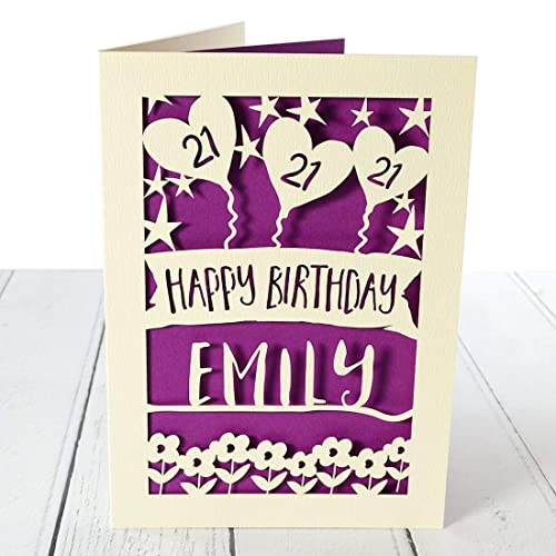 Personalised 21st Birthday Card For Her Special Birthday Card For