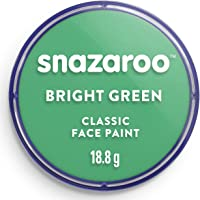 Snazaroo Classic Face and Body Paint, 18ml, Bright Green