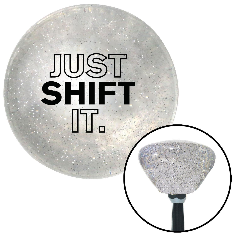 Black Just Shift It. American Shifter 163945 Clear Retro Metal Flake Shift Knob with M16 x 1.5 Insert