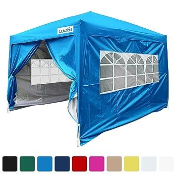 Quictent Silvox Waterproof 8x8u0027 EZ Pop Up Canopy Gazebo Party Tent Light Blue Portable Style  sc 1 st  Amazon.com & Amazon.com : Quictent Silvox Waterproof 8x8u0027 EZ Pop Up Canopy ...