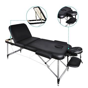 Naipo Table De Massage Cosmétique Lit Pliante Aluminium Professionnel  Portable Ergonomique Table Canapé Thérapie Haute Qualité