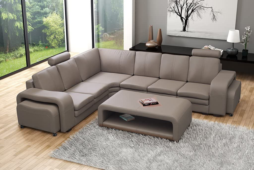 Conjunto de sofá sofá acolchado esquina Couch Soft con mesa ...