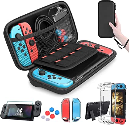 HEYSTOP Nintendo Switch Accesorio, Nintendo Switch Funda + Funda ...