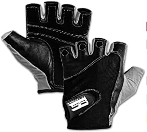 RIMSports Premium Leather Workout Gloves for Women & Men - Padded Weight Lifting Gloves with Anti-Slip Design - Gym Gloves for Weightlifting, Kettlebell, Gym Training, Cycling, Rowing, & Biking