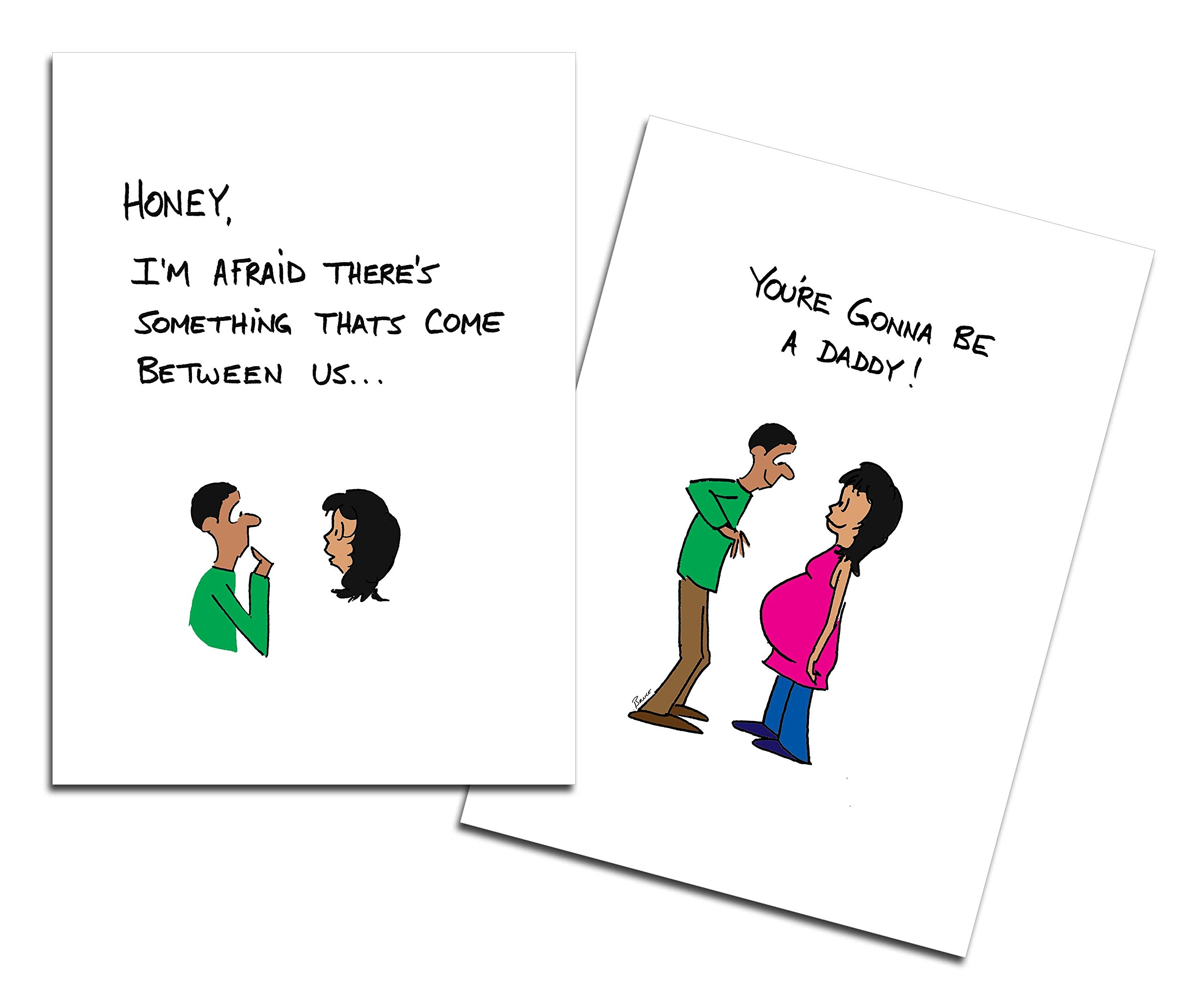 Dad's Castle Pregnancy Announcement - You're Going to be a Daddy Card, Ethnic People of Color